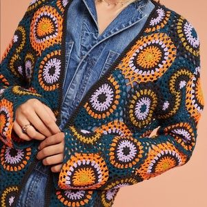 Anthropologie MOTH Crochet Cardigan S/M